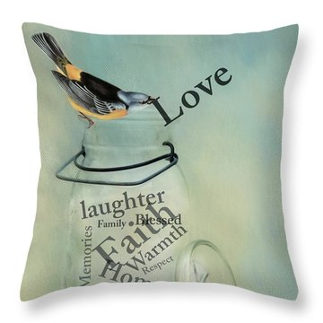Throw Pillow featuring the photograph Love by Robin-Lee Vieira