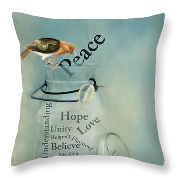 Throw Pillow featuring the photograph Peace by Robin-Lee Vieira