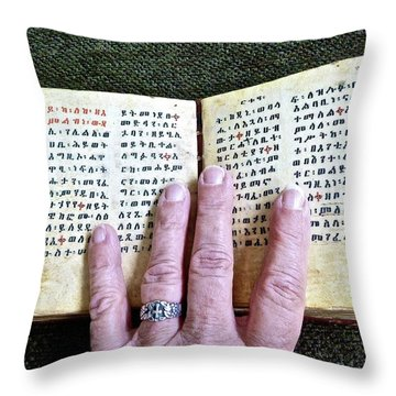 Word Of The Living God Throw Pillow