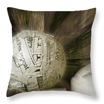 Throw Pillow featuring the photograph Word Shredder by Kristine Nora