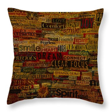 Words Matter Throw Pillow