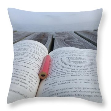 Words On The Dock Throw Pillow