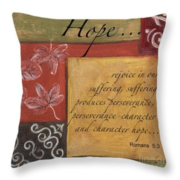 Words To Live By Hope Throw Pillow
