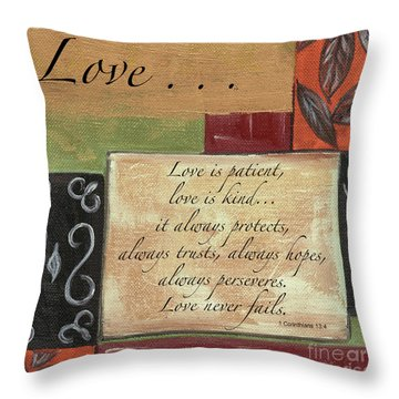 Words To Live By Love Throw Pillow
