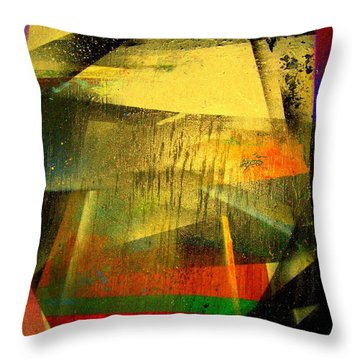 Throw Pillow featuring the painting Work Bench by Greg Moores