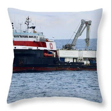 Work Boat Agnes Candies. Throw Pillow