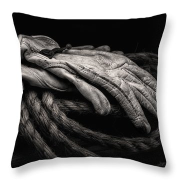 Work Gloves Still Life Throw Pillow