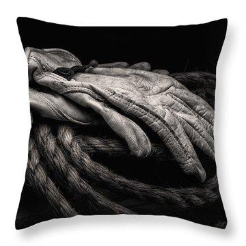 Work Gloves Still Life Throw Pillow