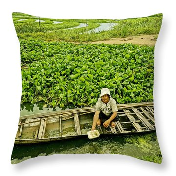 Work Hard With Smile Throw Pillow