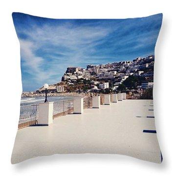#work #sea #water #peschici #gargano Throw Pillow