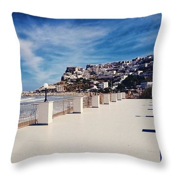 #work #sea #water #peschici #gargano Throw Pillow