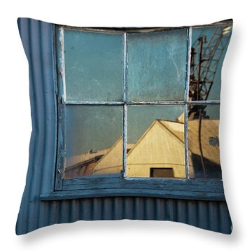 Throw Pillow featuring the photograph Work View 1 by Werner Padarin