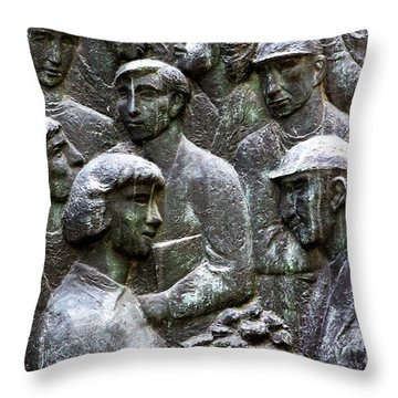 Workers Of The World Throw Pillow