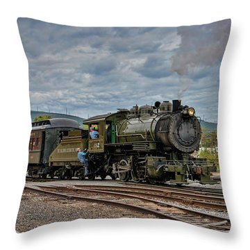 Workhorse At Steamtown Throw Pillow