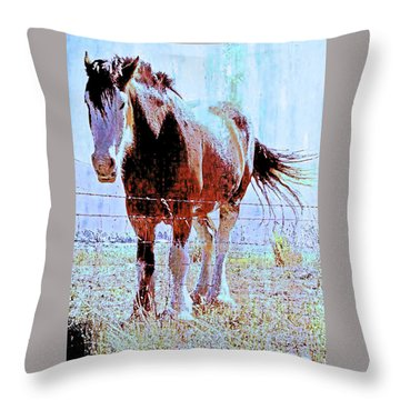 Throw Pillow featuring the photograph Workhorse by Cynthia Powell