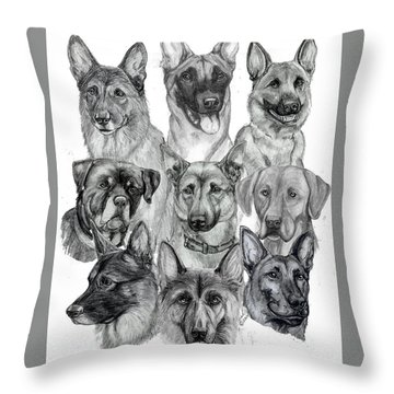 Working Dogs Of Florida Throw Pillow