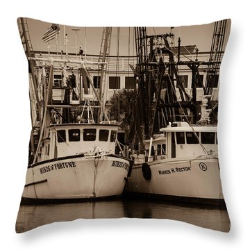 Working From The Creek Throw Pillow