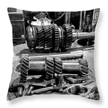 Working Gears Throw Pillow