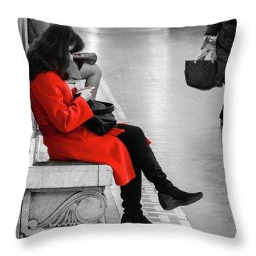 Working Girl Throw Pillow