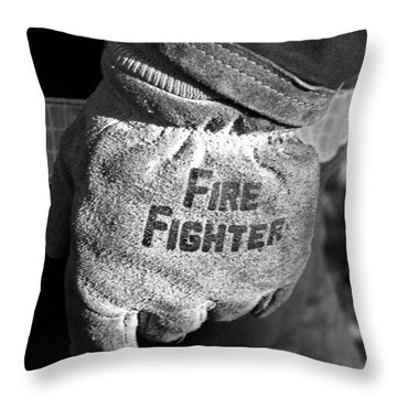 Working Gloves Throw Pillow
