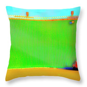 Working Late Throw Pillow