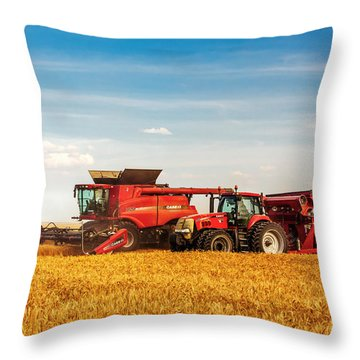 Working Side-by-side Throw Pillow