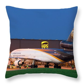 Working The Night Shift Throw Pillow