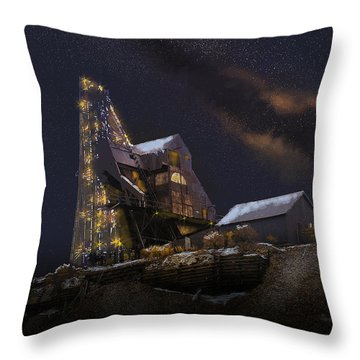 Working Through The Night Throw Pillow