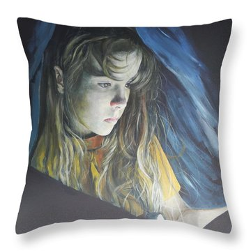 Working Undercover Throw Pillow