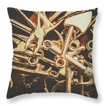 Workshop Abstract Throw Pillow