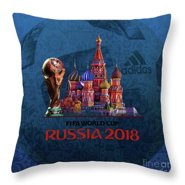 World Cup In Russia 2018 Throw Pillow