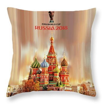 World Cup Russia 2018  Throw Pillow
