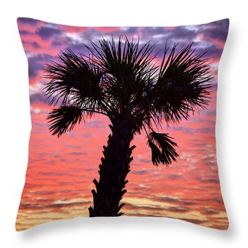World Famous Panama City Beach Throw Pillow
