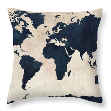 Countries Of The World Throw Pillows