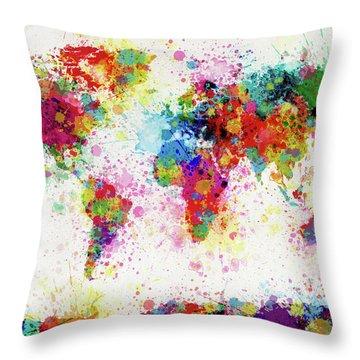 City Map Throw Pillows