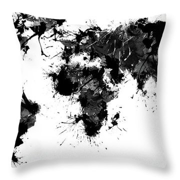 World Maps 11 Throw Pillow