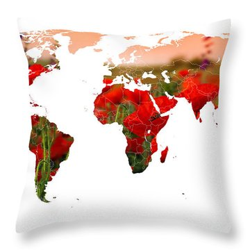 World Of Poppies Throw Pillow