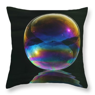 World Of Refraction Throw Pillow