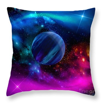 World Of Water Throw Pillow by Naomi Burgess