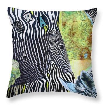 World Of Zebras Throw Pillow