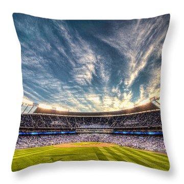 World Series Sunset Throw Pillow