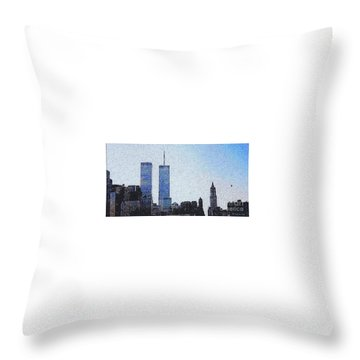 World Trade Center Once Upon A Time... Throw Pillow