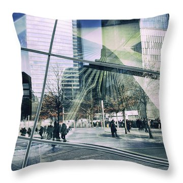 Throw Pillow featuring the photograph World Trade  by Jessica Jenney