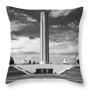 World War I Memorial And Museum Throw Pillow