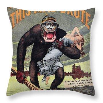 World War I: Recruitment Throw Pillow by Granger