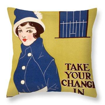 World War I: Thrift Stamps Throw Pillow by Granger