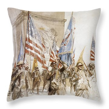World War I: Victory Parade Throw Pillow by Granger