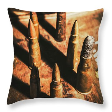 World War II Ammunition Throw Pillow