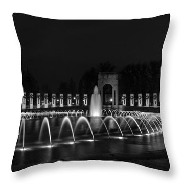 World War II Memorial Throw Pillow by Ed Clark