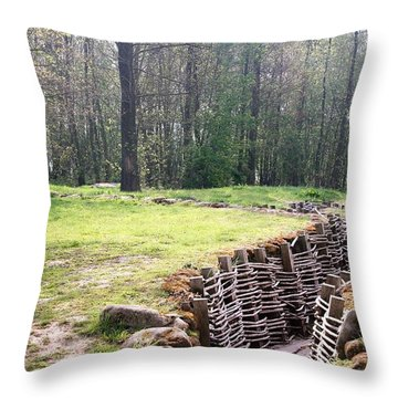 World War One Trenches Throw Pillow by Travel Pics